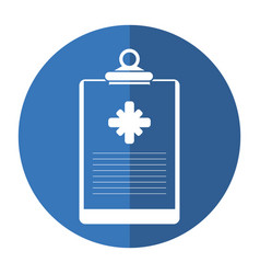Clipboard medical report clinic shadow vector
