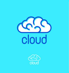 cloud computing logo communication emblems vector image