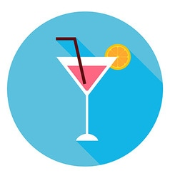 Cocktail Alcohol Drink Circle Icon vector