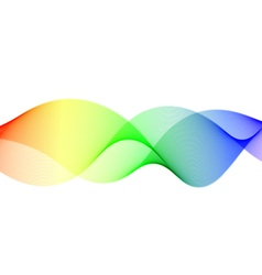 Colorful wavy lines vector image