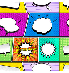 comic colorful seamless pattern vector image