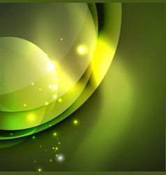 digital glowing waves and circles vector image