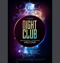 Disco ball background disco party poster on open vector