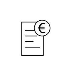 document euro icon element of finance signs and vector image