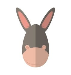 Donkey icon cute animal design graphic vector
