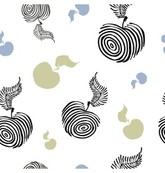 Elegant seamless pattern with decorative striped vector image