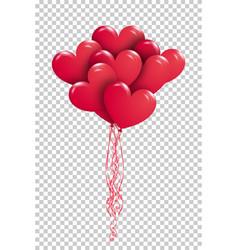 Eps10 copula red gel balloons in shape of vector
