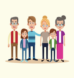 family togetherness happy image vector image