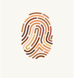 fingerprint many different skin tones vector image