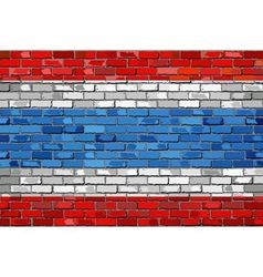 Flag of Thailand on a brick wall vector