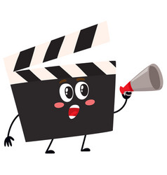funny cinema production clapper board clapboard vector image