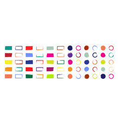 grunge brush with colorful ink circle vector image