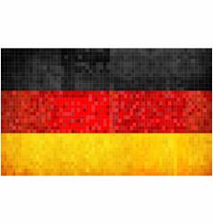 grunge mosaic flag of germany vector image