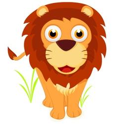 Happy little lion vector