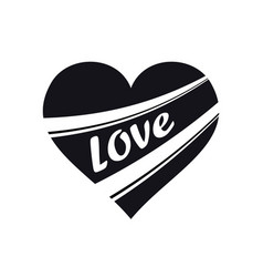 heart icon symbol of love happy valentines day vector image