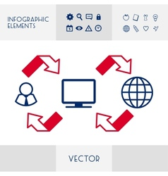 Infographic Flat Design vector