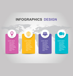 Infographic template with banner design vector