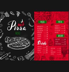 Italian food menu 7 vector