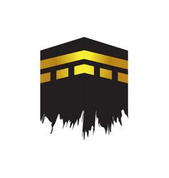 Kaaba building landscape for pilgrimage - hajj vector