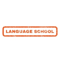 Language School Rubber Stamp vector
