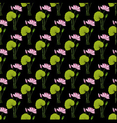 lotus floral seamless pattern vector image