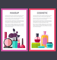 make up and cosmetic posters vector image
