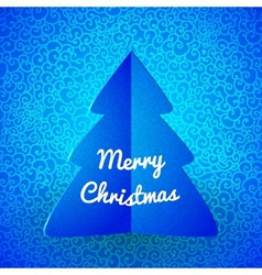 Merry Christmas doodle seamless pattern vector image