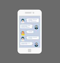 messaging interface - sms chat service on screen vector image