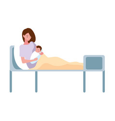 Mother and bapregnancy and maternity vector
