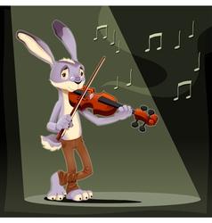 Musician rabbit vector