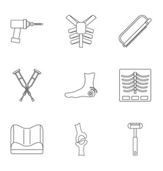Orthopedic surgery icon set outline style vector