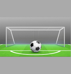 penalty kick concept football background vector image