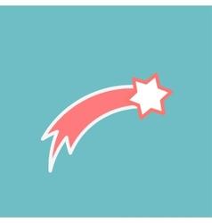 Pink comet vector image