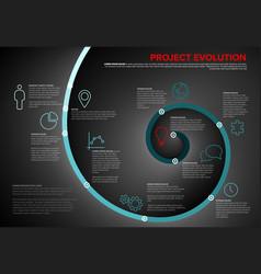 project evolution timeline template vector image