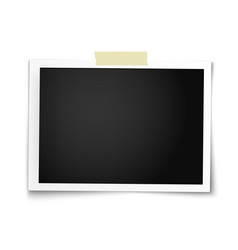 Realistic photo frame in horizontal position vector