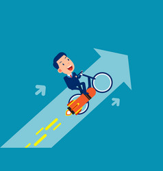 ride and flying up business growth vector image