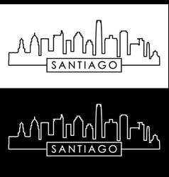 Santiago skyline linear style editable file vector