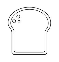 slice bread bakery thin line vector image