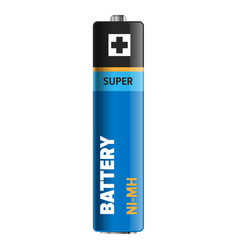 Super powerful and compact battery vector