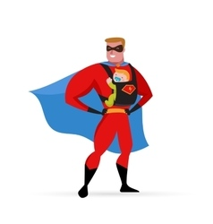 Superhero daddy costume baby carrier vector
