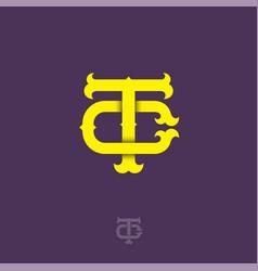 T c monogram vector