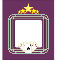 Template gambling light advertising vector image