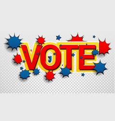 vote inscription colorful concept vector image