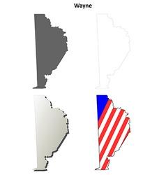 Wayne Map Icon Set vector