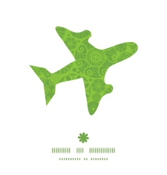 abstract green and white circles airplane vector image
