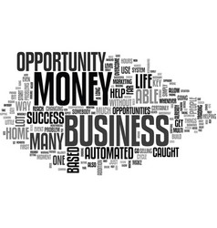 automated money is the key to success text word vector image vector image