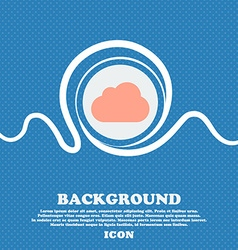 cloud sign icon Blue and white abstract background vector image vector image