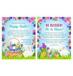 easter spring holidays poster template design vector image vector image