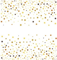 Gold glitter stars on white background vector image
