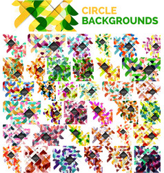 mega collection of circle abstract backgrounds vector image vector image